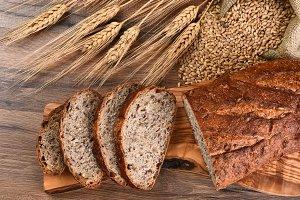 Multi-Grain Bread Cutting Board