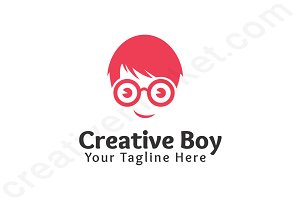 Creative Boy Logo Template