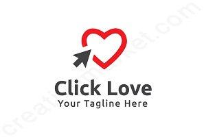Click Love Logo Template