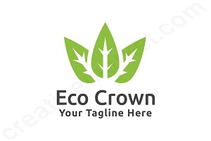 Eco Crown Logo Template