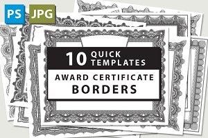10 Award Certificate Templates