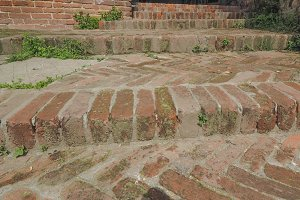 Old brick stairway