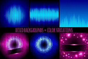 Disco backgrounds.Digital equalizers