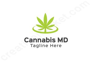 Cannabis MD Logo Template