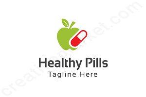 Healthy Pills Logo Template