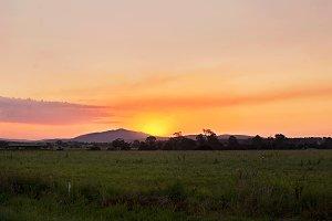 Sun setting over the Mountain