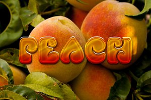 3D Fruit Text Styles for Photoshop