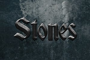 Stone Text Styles for Photoshop