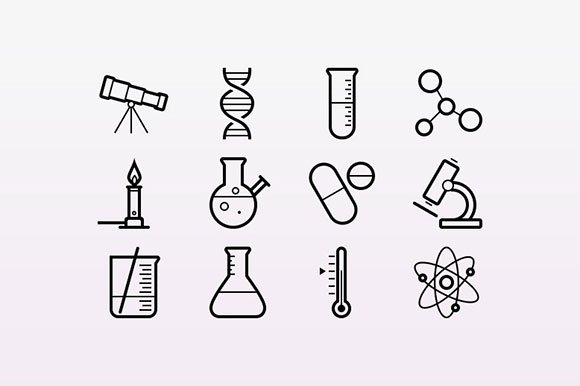 How To Draw Science Icons