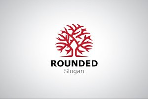 Rounded Tree Logo Template