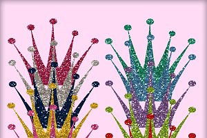 Princess Glitter Crowns - PNGs