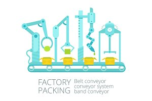 Conveyor factory packing