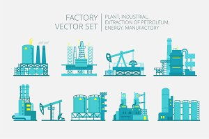 Set of factory illustration