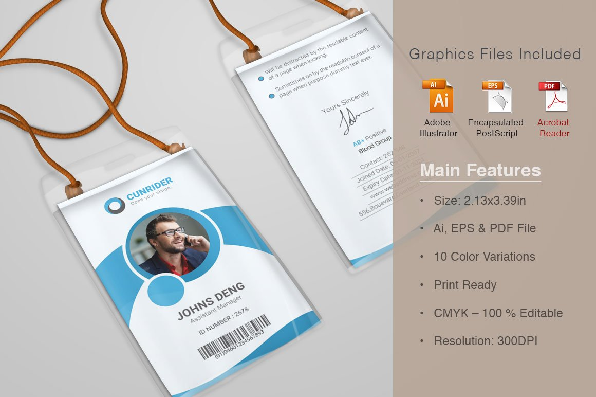 Corporate ID Card Templates ~ Card Templates ~ Creative Market