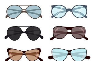 Summer protection sunglasses vector