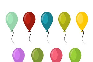 Vector colorful balloons designs
