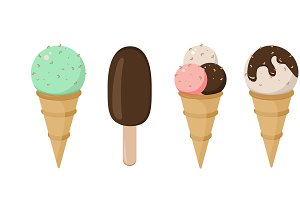 Set of Ice cream vector