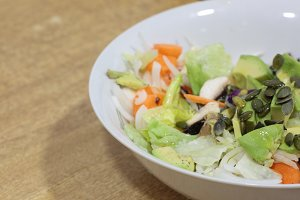 Organic mixed salad