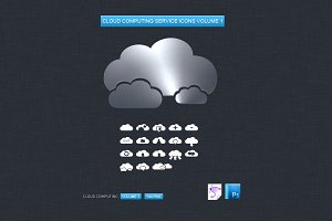 Cloud Computing Service Icons Vol. 1