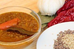 Lentils organic vegetables