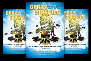 Crazy Classics Flyer + FB Cover