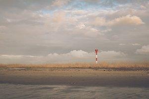 Light Beacon at the North Sea Coast