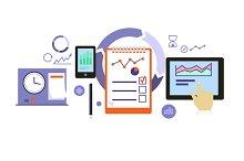 Planning Process Icon Flat Design