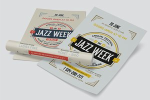 Jazz week poster template
