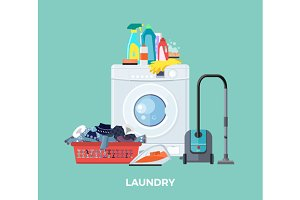 Laundry Washing Machine, Vacuum