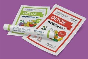Detox workshop poster template