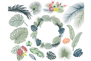 Wedding Tropical Floral clipart