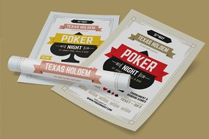 Poker night poster template