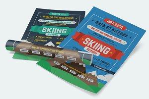 Skiing Season Poster Template