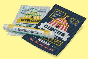 Circus Poster Template, Vol.2