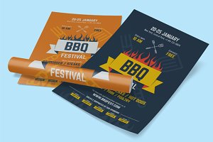 BBQ Festival Poster Template, vol.2