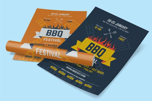 BBQ Festival Poster Template, vol.2 - Flyers