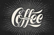 Hand-drawn lettering Coffee