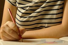 Leisure of young girl. Adult coloring book