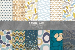 Azure Dawn: Petrol & Gold