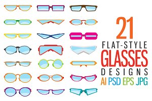 Flat-Style Glasses Designs