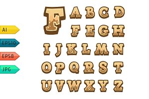 Game alphabet for user interfaces.