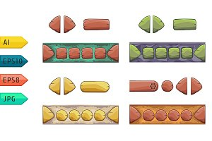 Different shapes vector gui elements