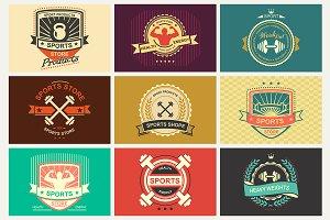 Set of sport emblems