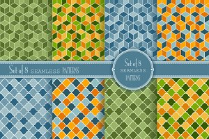 Set of 8 seamless Geometry Patterns