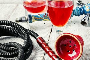 Hookah and wine