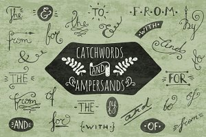 Ampersands and catchwords set