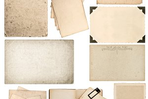Set of old paper sheets JPG file