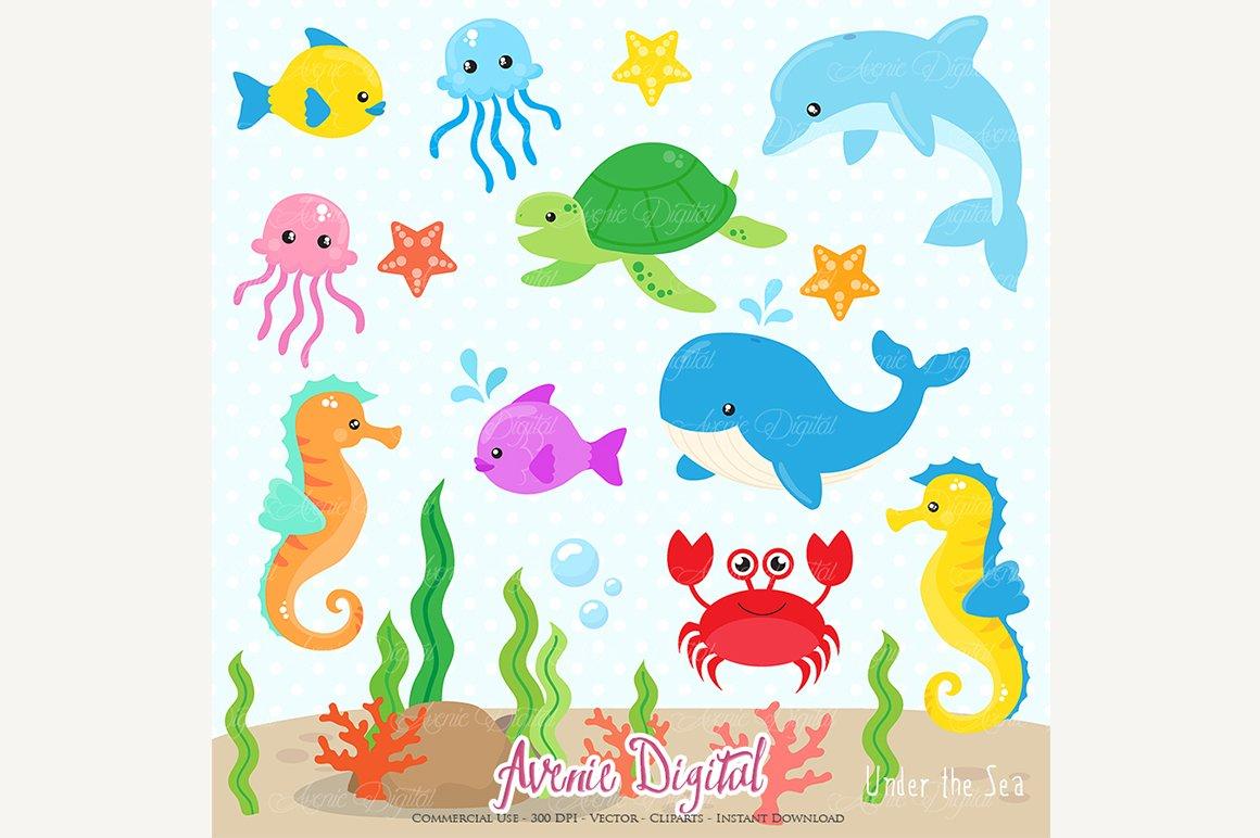 Under The Sea Clipart Illustrations Creative Market