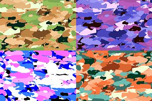 4 Vector seamless camouflage