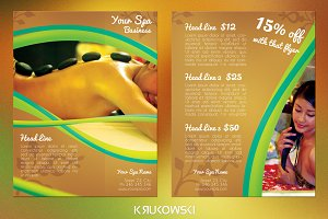 Spa 2 Sided Flyer